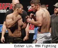 Rousimar Palhares vs. Dan Miller at UFC 134 in Rio.