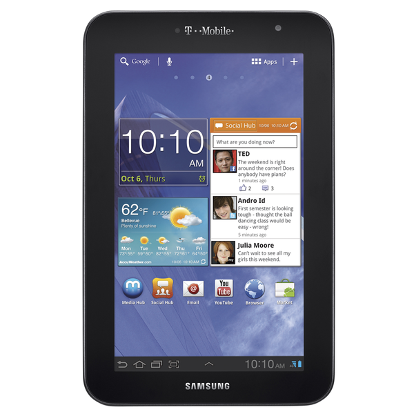 T-mobile galaxy tab 7 plus