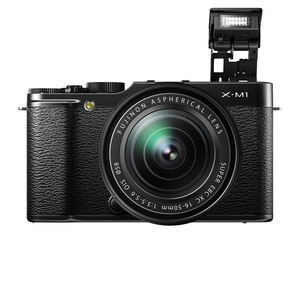 X-m1_black_front_flash_16-50mm