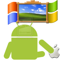 Android_and_apple_watching_windows_by_intoxicavampire-d4v5v0v