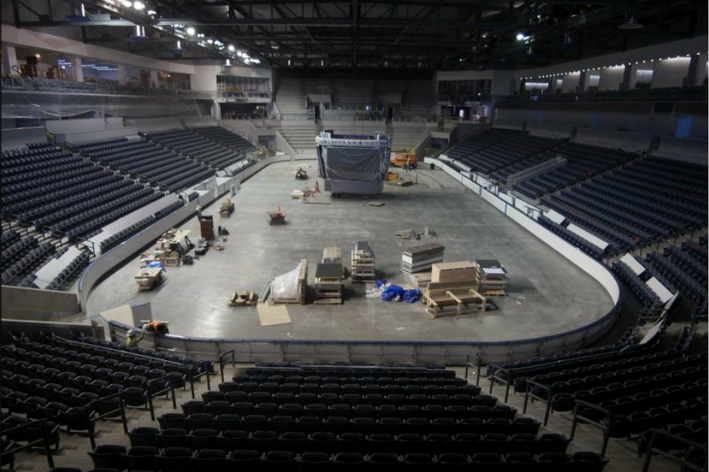 BIG10: Penn State Hockey Arena Beginning To Look Like Hockey Arena