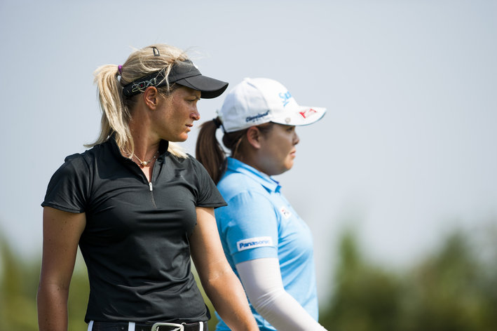 Suzann and Inbee at 2013 US Women's Open