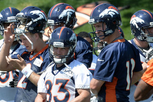 Manning at Broncos camp