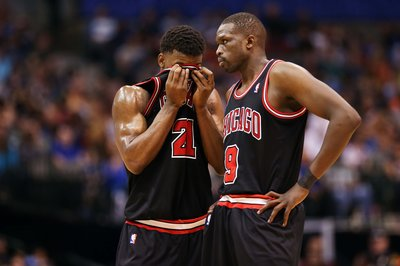 Bulls injury update: Luol Deng, Jimmy Butler miss practice Monday