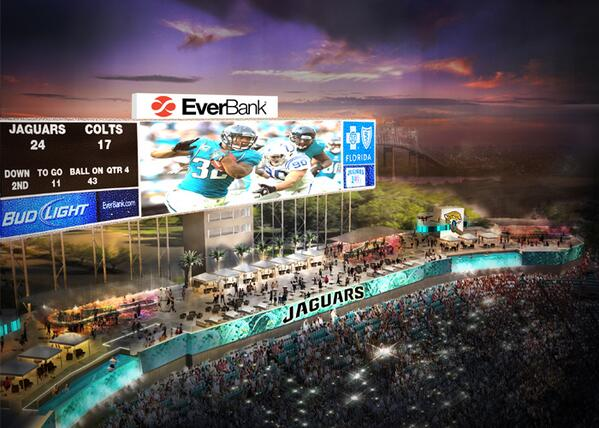 Jaguars 2014 ticket prices are out including pool cabanas - Jacksonville jaguars swimming pool ...