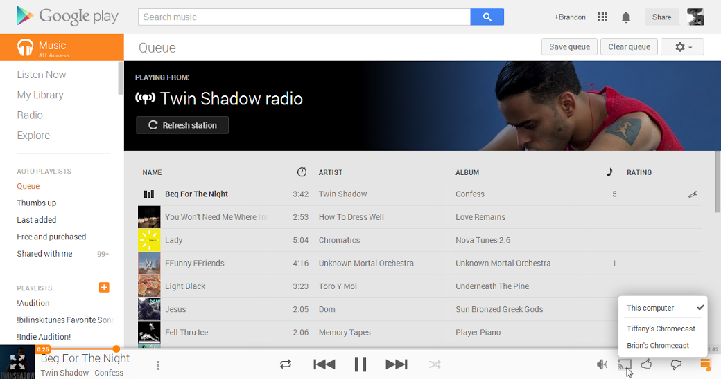 Chromecast can now stream videos and music from Google