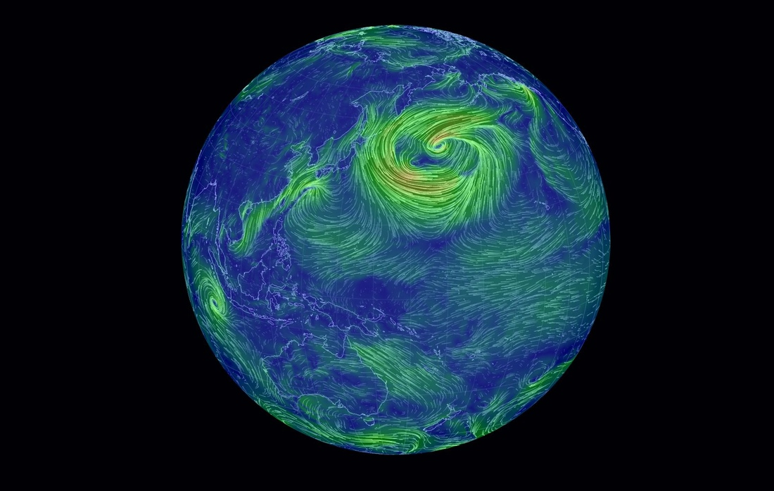 Earth Wind Map Turns Raw Weather Data Into Neon Art The Verge