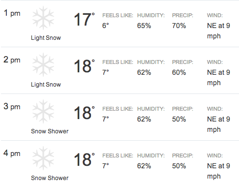 Winter Classic Weather Forecast Calls For Light Snow Sbnation Com