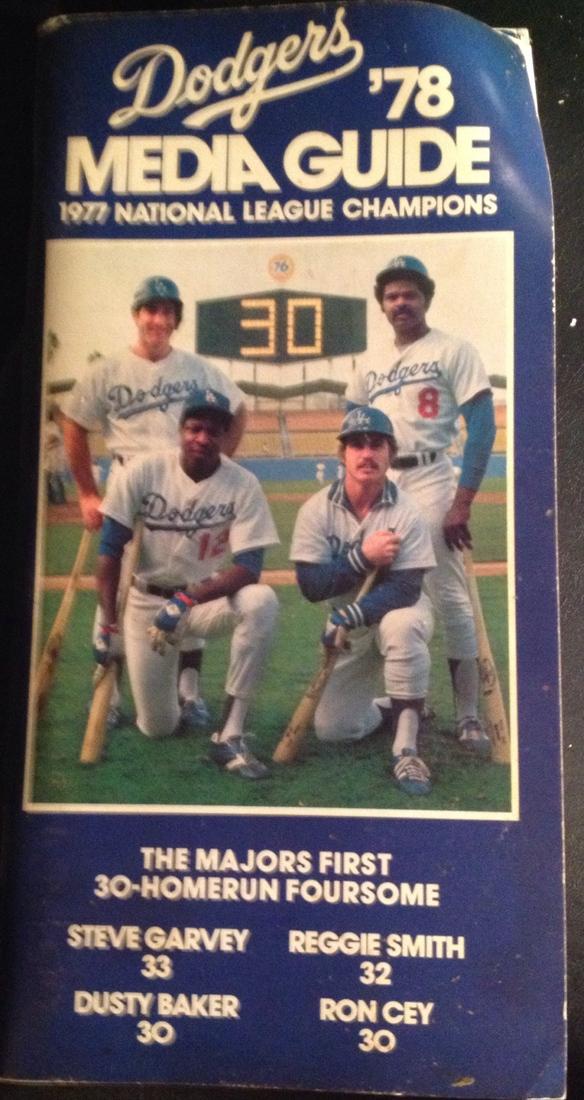 A Fun Look Back Through The Dodgers 1978 Media Guide True Blue La