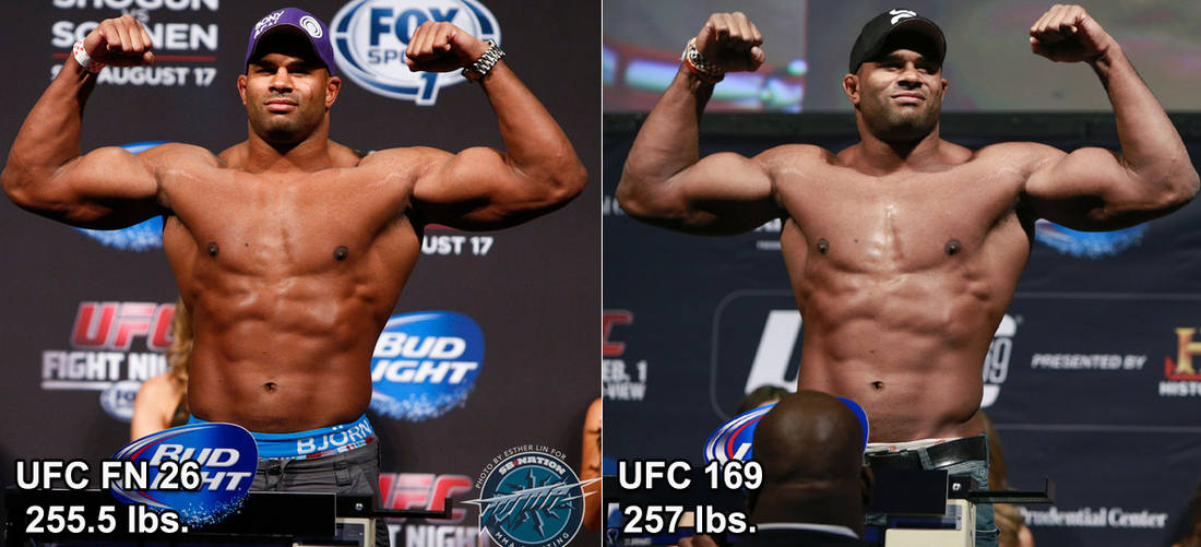 Side By Side Pic Ufc 169 S Alistair Overeem Before And