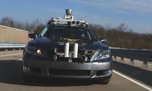 lexus self driving car