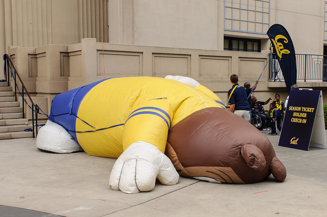 Deflated sports mascot.
