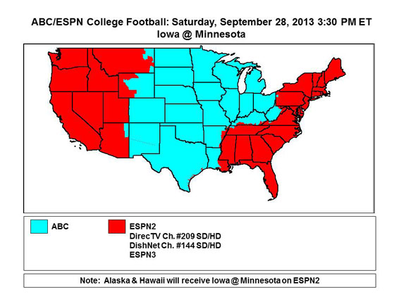 College Football Tv Schedule Week 5 The Complete List Of