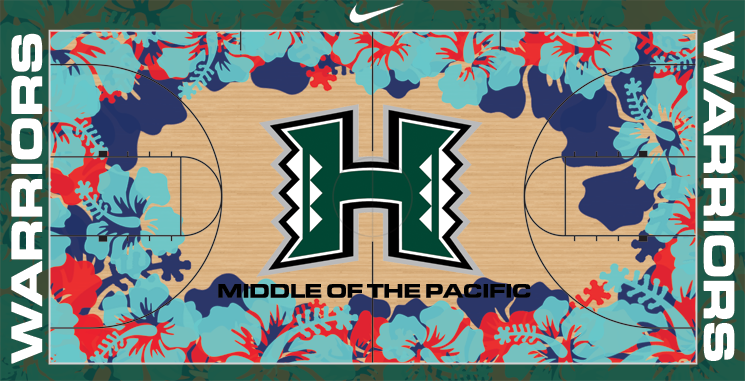 PHOTO: College Basketball Court Designs Gaudy Enough To ...