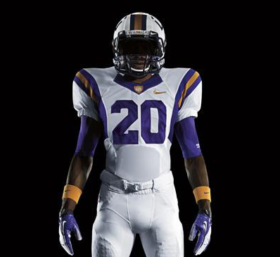 PHOTO  LSU s Nike Pro Combat Uniforms Include Purple Sneakers For ... 686eda2a6