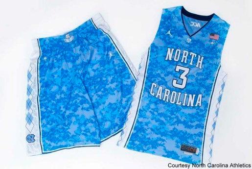 buy popular 55fc6 113c6 Michigan State, North Carolina Will Wear Camouflage Jerseys ...